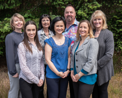 Smiling staff at Perrinville Family Dentistry in Edmonds, WA